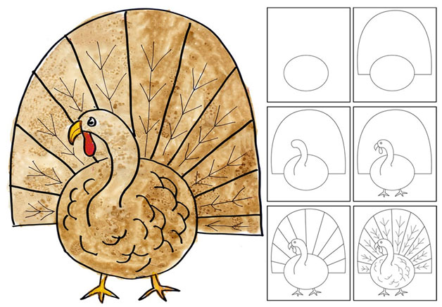 Turkey time art projects minnesota homeschoolers alliance - Animal a dessiner ...